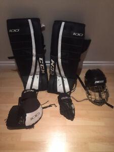 Equipement Hockey- gardien ruelle ado/ adulte-St-Lambert