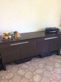 Ikea, brown sideboard