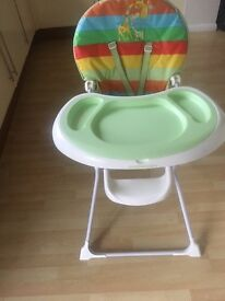 High chair, Moses Basket, Travel Cot, Baby Bath
