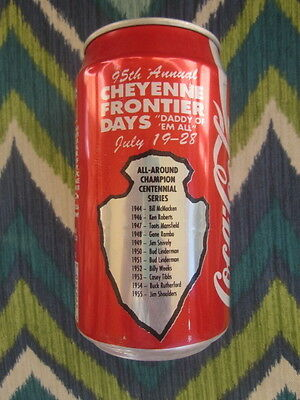 1990 COKE  CAN  95th  Annual CHEYENNE FRONTIER DAYS  July 19 - 28  Coca-Cola  BO