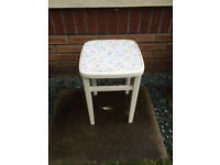 vintage wooden kitchen stool dressing table