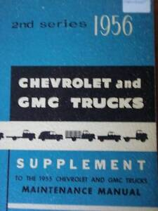 CHEVROLET & GMC TRUCKS 2nd SERIES SUPPLEMENT c1956 Dianella Stirling Area Preview