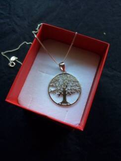 .925 Sterling Silver Tree of Life Necklace