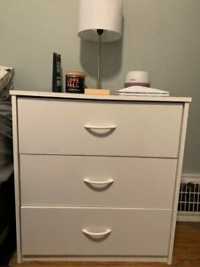 3 drawer white chest (perfect condition)