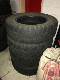 Cooper SSD Mud Trail tire X4 - 245x70x17