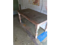 Farmhouse Table In Good Quality Pine Desperatley Seeks Shabby Chic Refinisher
