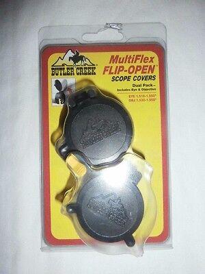 Butler Creek MultiFlex Flip Open Scope Covers - Dual Pack - EYE & OBJ Set (Butler Creek Multiflex Flip Open Scope Covers)