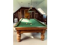 3/4 size antique snooker table