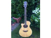 Left Handed Yamaha Electric/ Acoustic Guitar