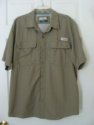 5e67c251 MAGELLAN OUTDOORS FISH GEAR GREEN MEN'S VENTED MAG WICK FISHING SHIRT - XL  - EUC