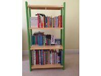 Colourful Book shelves unit