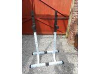 Heavy Duty Barbell Stands Adjustable Height