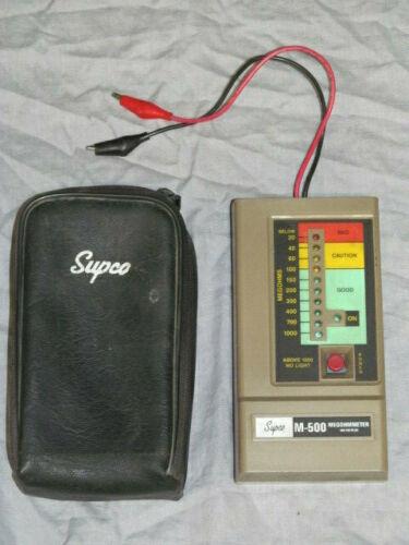 Supco M-500 Megohmmeter Insulation Tester with Black Case