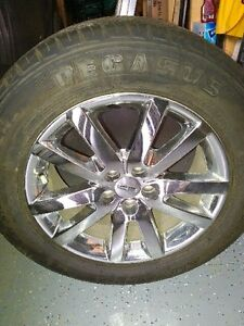 "18"" chrome ford chrome rims and tires (set of 4) Regina Regina Area image 1"