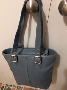 Coach Purse Style 9572 Hampton Purse Blue Leather Lunch Tote