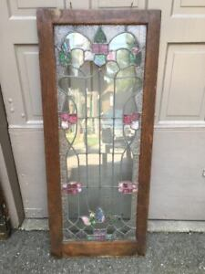 Vintage Stained Glass Window Hanging