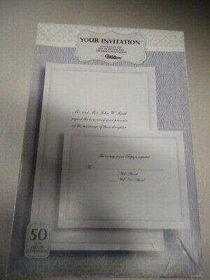 Wedding Invitation Sets (Set of 50 Invitation Kit by Wilton wedding)