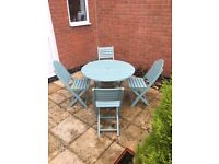 Wooden Table & x4 Chairs