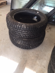 2 Hankook Winter Tires without Rims - 235/55R18 100T