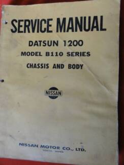 DATSUN 1200 MODEL B110 CHASSIS AND BODY WORKSHOP SERVICE  MANUAL Dianella Stirling Area Preview