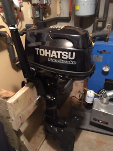 6hp out board motor made by Tohatsu