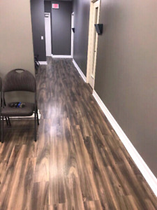 Laminate and vinyl plank installs starting at 95 cents a sqft