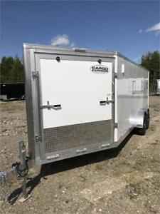 Cargo Express Aluminum Enclosed Snowmobile Trailers 7x25