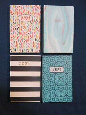 2021 Weekly Pocket Planner Small Agenda Jan - Dec 4 Beautiful Cover Variations