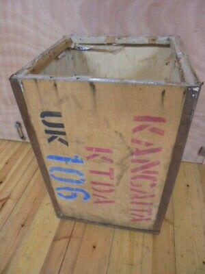 LARGE WOODEN TEA CHEST PACKING BOX VINTAGE KANGAITA TEA KENYA