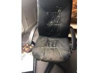 Large Black Swivel Office Chair