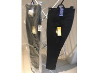 Boys M & S black flat front skinny trousers size 13-14 years 164cm