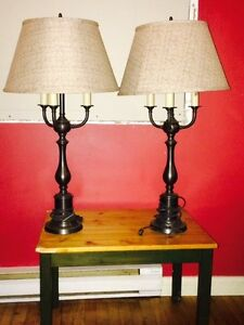2 tall desk lamps/ lampes de table West Island Greater Montréal image 1