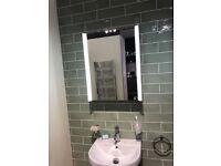 Brand New Bathstore Pathway LED Illuminated Mirrored Cabinet.
