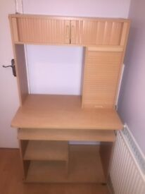 Wooden home office desk