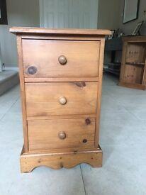 Bedside drawer, antique pine