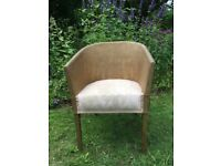 Gorgeous Gold and Pink Lloyd Loom Style Chair
