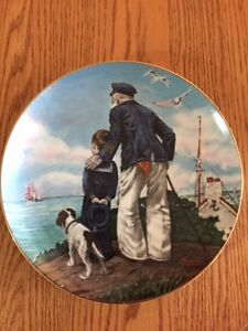 """Norman Rockwell """"Looking out to Sea"""" Collector Plate"""