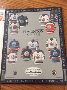 Oilers Plaqmount & Lithograph