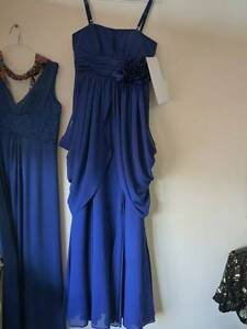 DEEP BLUE LONG EVENING DRESS SIZE 10 Pickering Brook Kalamunda Area Preview
