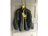 Volkl Tracksuit Jacket Zipped Black / Yellow with zipped pockets