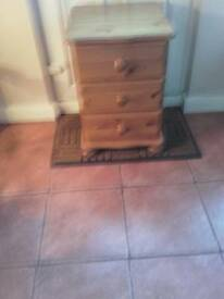 Bed side draw with 3draws