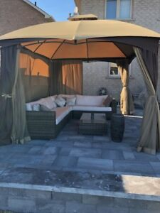 12-ft x 10-ft Rectangular Soft Top Gazebo with Insect Screen