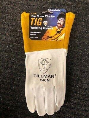 Tillman 24cm Medium Tig Welding Gloves Top Grain Kidskin Leather