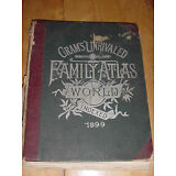 Large & Complete 1899 Antique Cram's Unrivaled Family Atlas of the World