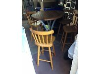Tall Table and 4 Tall Chairs