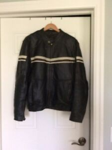 MENS DARK BROWN LEATHER MOTORCYCLE JACKET