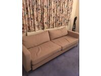 URGENT NOV/2017 - 2-sits ikea sofa bed with removable cover, only selling due to move