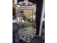 Ornate Mirror with LED back lighting
