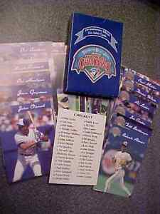 1992 BASEBALL TORONTO BLUE JAYS WORLD SERIES CHAMPS Complete Set London Ontario image 3