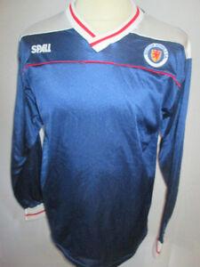 Scotland-Schools-FA-Match-Worn-Home-1985-Football-Shirt-with-COA-9679
